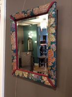 Floral material mirror